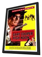 High Noon - 27 x 40 Movie Poster - Style A - in Deluxe Wood Frame
