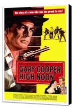 High Noon - 27 x 40 Movie Poster - Style A - Museum Wrapped Canvas