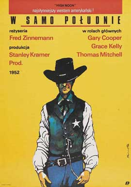 High Noon - 27 x 40 Movie Poster - Polish Style A