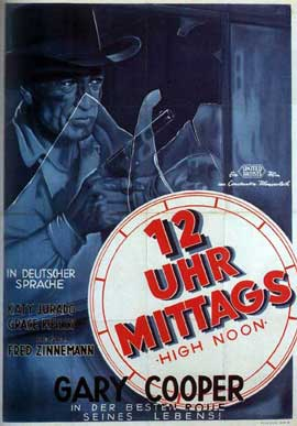 High Noon - 11 x 17 Movie Poster - German Style C
