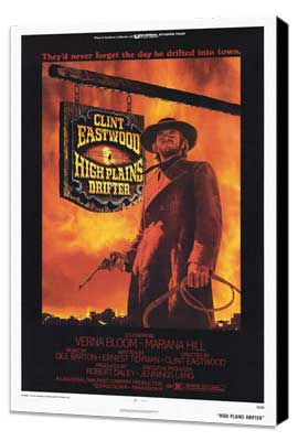 High Plains Drifter - 27 x 40 Movie Poster - Style A - Museum Wrapped Canvas
