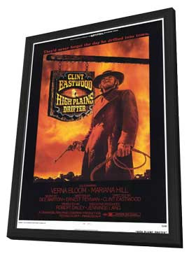 High Plains Drifter - 11 x 17 Movie Poster - Style A - in Deluxe Wood Frame