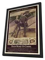 High Road to China - 27 x 40 Movie Poster - Style A - in Deluxe Wood Frame
