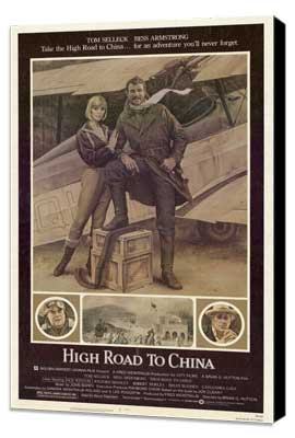 High Road to China - 27 x 40 Movie Poster - Style A - Museum Wrapped Canvas