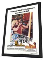 High Rolling in a Hot Corvette - 11 x 17 Movie Poster - Style A - in Deluxe Wood Frame
