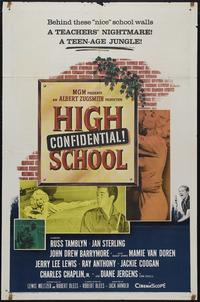 High School Confidential - 43 x 62 Movie Poster - Bus Shelter Style A