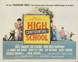 High School Confidential - 22 x 28 Movie Poster - Half Sheet Style A