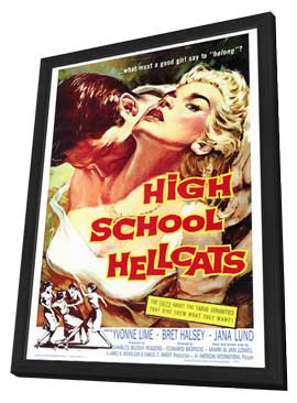High School Hellcats - 27 x 40 Movie Poster - Style A - in Deluxe Wood Frame
