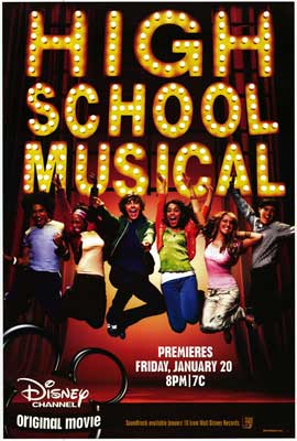 High School Musical - Movie Poster - Reproduction - 27 x 40 - Style A