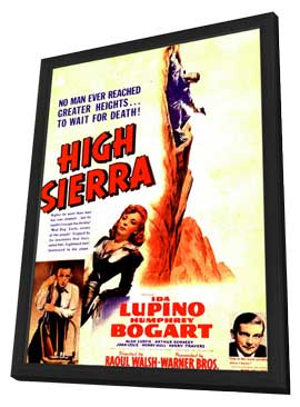 High Sierra - 11 x 17 Movie Poster - Style F - in Deluxe Wood Frame