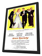 High Society - 27 x 40 Movie Poster - Style A - in Deluxe Wood Frame