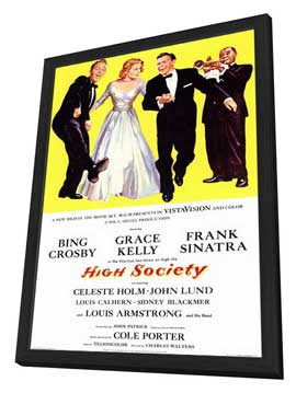 High Society - 11 x 17 Movie Poster - Style A - in Deluxe Wood Frame
