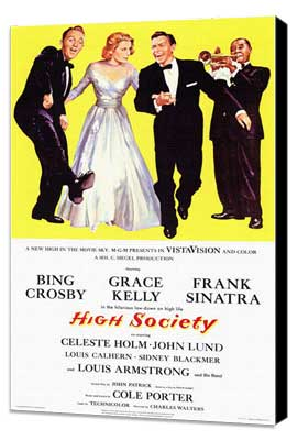High Society - 11 x 17 Movie Poster - Style A - Museum Wrapped Canvas