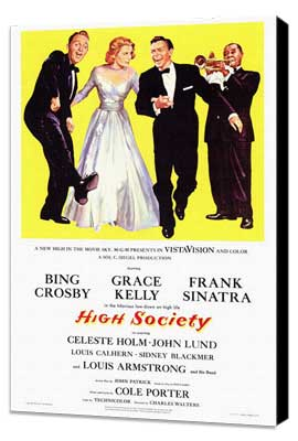 High Society - 27 x 40 Movie Poster - Style A - Museum Wrapped Canvas