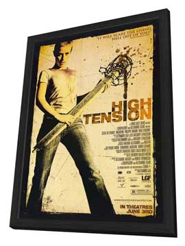 High Tension - 11 x 17 Movie Poster - Style D - in Deluxe Wood Frame