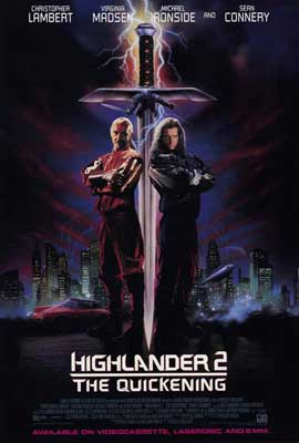 Highlander 2: The Quickening - 27 x 40 Movie Poster - Style A