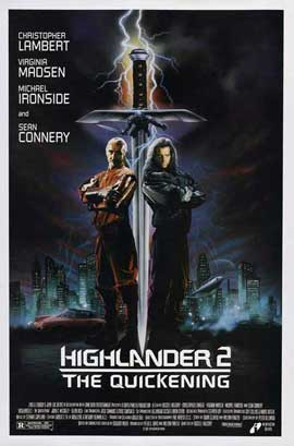 Highlander 2: The Quickening - 27 x 40 Movie Poster - Style B