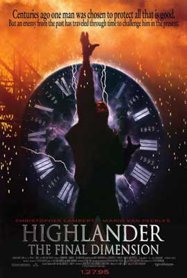 Highlander 3: The Final Dimension - 27 x 40 Movie Poster - Style A
