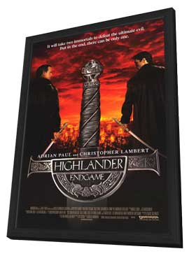 Highlander: Endgame - 11 x 17 Movie Poster - Style A - in Deluxe Wood Frame