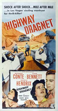 Highway Dragnet - 11 x 17 Movie Poster - Style A