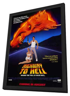 Highway to Hell - 11 x 17 Movie Poster - Style A - in Deluxe Wood Frame