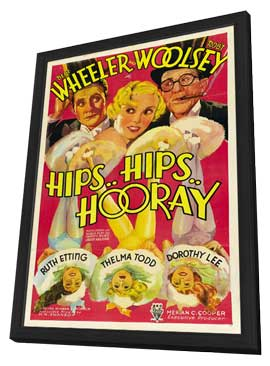 Hips, Hips, Hooray - 27 x 40 Movie Poster - Style A - in Deluxe Wood Frame
