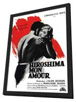 Hiroshima, Mon Amour - 11 x 17 Movie Poster - French Style A - in Deluxe Wood Frame