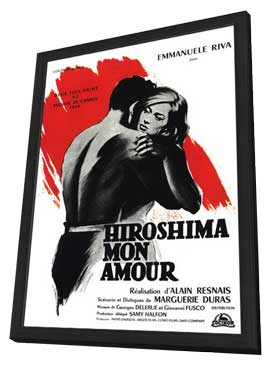 Hiroshima, Mon Amour - 27 x 40 Movie Poster - French Style A - in Deluxe Wood Frame