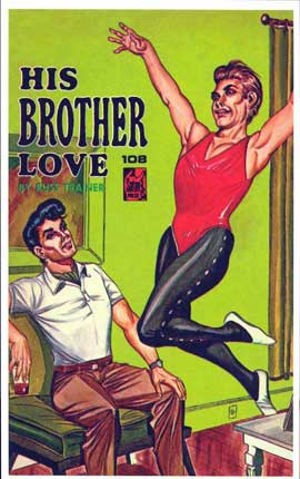 His Brother Love - 11 x 17 Retro Book Cover Poster