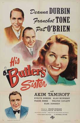 His Butler's Sister - 27 x 40 Movie Poster - Style A