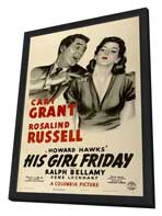 His Girl Friday - 27 x 40 Movie Poster - Style C - in Deluxe Wood Frame