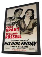 His Girl Friday - 11 x 17 Movie Poster - Style B - in Deluxe Wood Frame