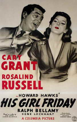 His Girl Friday - 11 x 17 Movie Poster - Style B