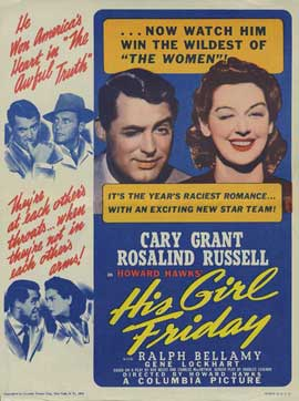His Girl Friday - 27 x 40 Movie Poster - Style B