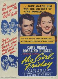 His Girl Friday - 43 x 62 Movie Poster - Bus Shelter Style B