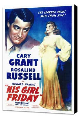 His Girl Friday - 27 x 40 Movie Poster - Style A - Museum Wrapped Canvas