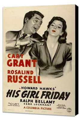 His Girl Friday - 27 x 40 Movie Poster - Style C - Museum Wrapped Canvas
