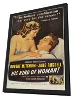 His Kind of Woman - 11 x 17 Movie Poster - Style A - in Deluxe Wood Frame
