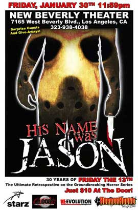 His Name Was Jason: 30 Years of Friday the 13th - 11 x 17 Movie Poster - Style A