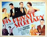 His Private Secretary - 11 x 14 Movie Poster - Style A