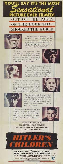 Hitler's Children - 14 x 36 Movie Poster - Insert Style A