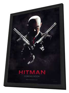 Hitman - 27 x 40 Movie Poster - Style B - in Deluxe Wood Frame