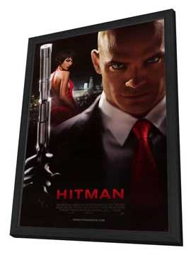 Hitman - 27 x 40 Movie Poster - Style C - in Deluxe Wood Frame