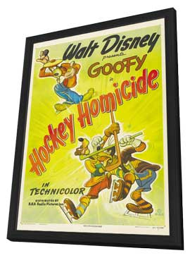 Hockey Homicide - 27 x 40 Movie Poster - Style A - in Deluxe Wood Frame