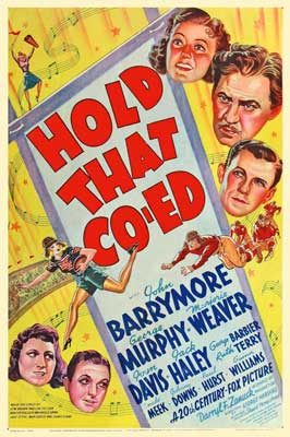 Hold That Co-ed - 11 x 17 Movie Poster - Style A