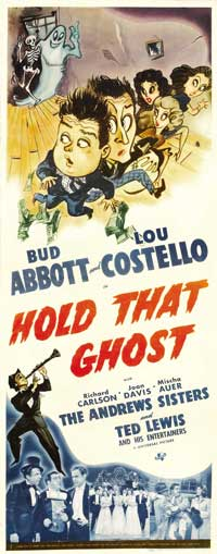 Hold That Ghost - 14 x 36 Movie Poster - Insert Style A