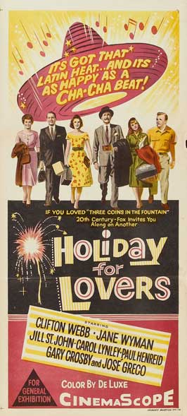 Holiday For Lovers - 13 x 30 Movie Poster - Australian Style A