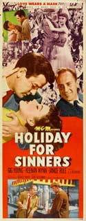 Holiday for Sinners - 14 x 36 Movie Poster - Insert Style A