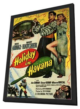 Holiday in Havana - 11 x 17 Movie Poster - Style A - in Deluxe Wood Frame