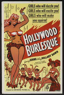 Hollywood Burlesque - 11 x 17 Movie Poster - Style B